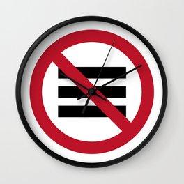No Hamburger bar Wall Clock