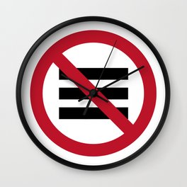 No Hamburger bar Wall Clock