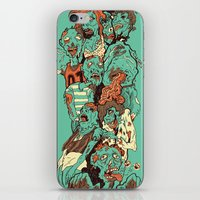 zombies iPhone & iPod Skins featuring Zombies by SarahRobbins