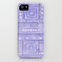 Hmong textile watercolor iPhone Case