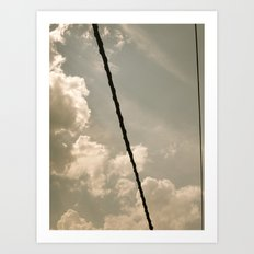 On a wire Art Print