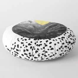 Abstract painting patterns Black and white polka dots painterly texture minimalist art Floor Pillow