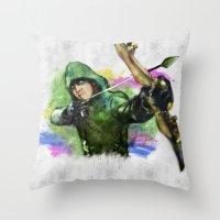 arrow Throw Pillows featuring arrow by evenstarss