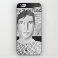 newspaper iPhone & iPod Skins featuring Newspaper Boy by Lizzie Shu