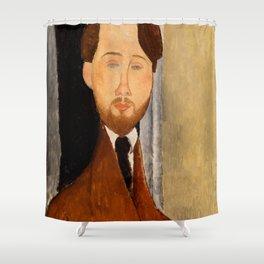 """Amedeo Modigliani """"Portrait of Léopold Zborowski"""" Shower Curtain"""