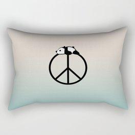 Peace and panda Rectangular Pillow