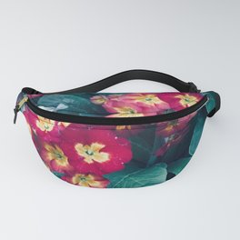 Pretty Little Red & Yellow Flowers Fanny Pack