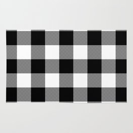 Black and White Buffalo Plaid Rug