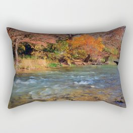 Fall Foliage in the Guadalupe River Rectangular Pillow