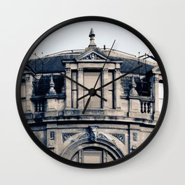 This is a photo of architectural detail on a building in Europe. Photography by artist Larry Simpson Wall Clock