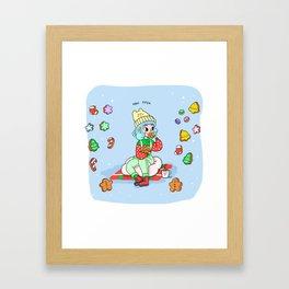 Man Eater Framed Art Print