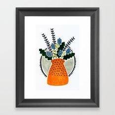 Orange pot Framed Art Print