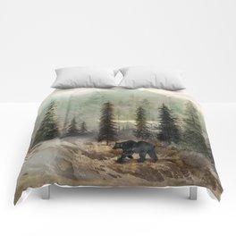 Mountain Black Bear Comforters