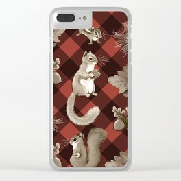 Squirreling Clear iPhone Case