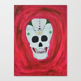 Happy Skull Canvas Print