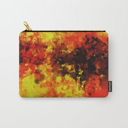Yellow Abstract Art Carry-All Pouch