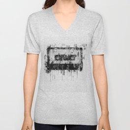 cassette / tape Illustration black and white painting Unisex V-Neck