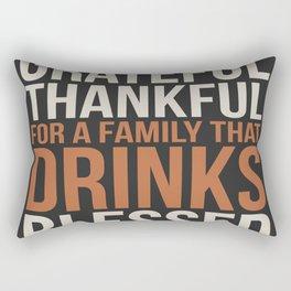 Family That Drinks Rectangular Pillow