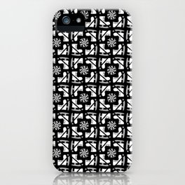 Ice Skates and Snowflakes Pattern iPhone Case