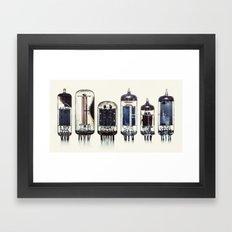 Vintage Amplifier Tubes Framed Art Print