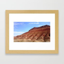 colorful mineral mountain photography 2 Framed Art Print