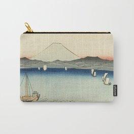 Vintage Japanese Woodblock Print Art - Kurodo Bay, Kazusa Province By Utagawa Hiroshige, 1858. Carry-All Pouch