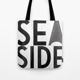 Seaside Typography 2 Tote Bag