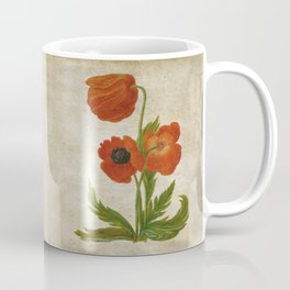 Vintage painting - Bunch of poppies Poppy Flower Garden floral Coffee Mug