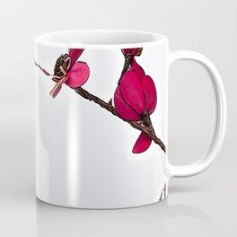 Dainty Red Double Stem Coffee Mug