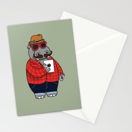Hipposter Stationery Cards