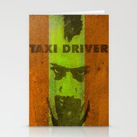 taxi driver Stationery Cards featuring Taxi Driver by Joe Ganech