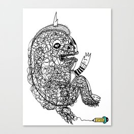 A Doodle Lives Inside of ME.  Canvas Print