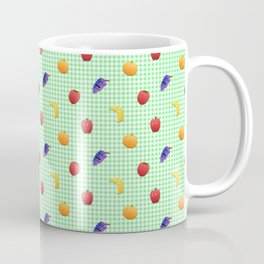 Cute Fruit Green Gingham Coffee Mug