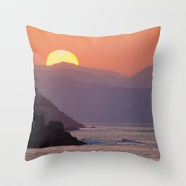 Sunset Donosti Throw Pillow