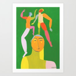 Dancing Thoughts Art Print