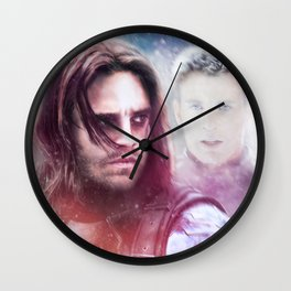Winter Soldier - The Angel On My Shoulder (Steve and Bucky) Wall Clock