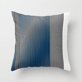 Escultura Cubo virtual azul y negro con progresión amarilla -Detail- Throw Pillow