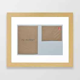 unsent letters project. Framed Art Print