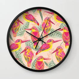 PINK BIRDS Wall Clock