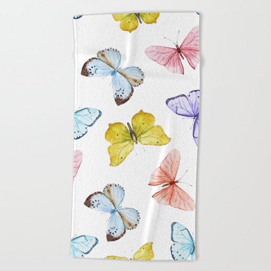 Butterfly Pattern 04 Beach Towel