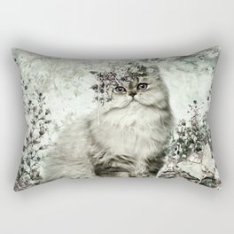 FLORAL KITTY Rectangular Pillow