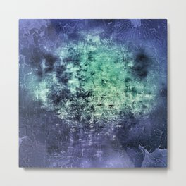 Deep Dark Blue Abyss Abstract #LostPainting Metal Print