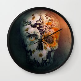 Skull Still Life II Wall Clock