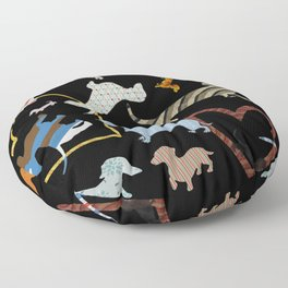 dachshund dog. love. pattern Floor Pillow