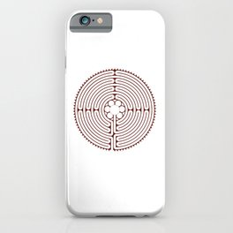 Cathedral of Our Lady of Chartres Labyrinth - Red iPhone Case