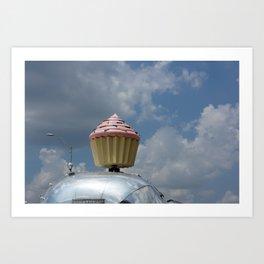 Cupcake Trailer Art Print
