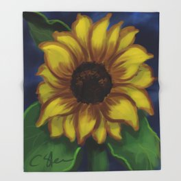 Dramatic Sunflower DP141118a Throw Blanket