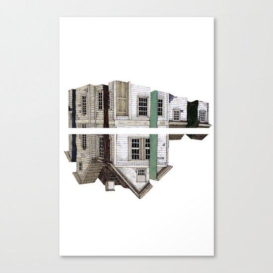 house white Canvas Print