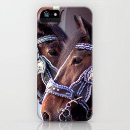 Concept Kaltblutmarkt 2018: 2 horses iPhone Case