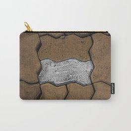 Silver Foil Tape Brick in Sidewalk; Laos, w/ Jesse Bercowetz Carry-All Pouch